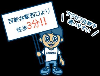 東武伊勢崎線の西新井駅西口から徒歩3分
