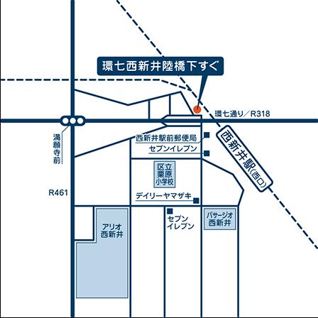 当院の地図 東京都足立区栗原3-1-4